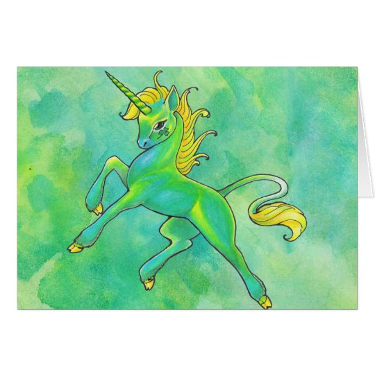 St. Patrick's Day Unicorn Card