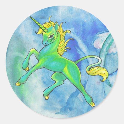 St. Patrick's Day Unicorn Stickers
