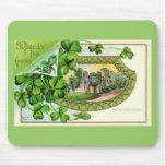 St. Patrick's Day Vintage Ireland Castle Mouse Pad