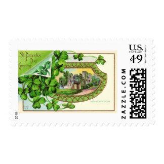 St. Patrick's Day Vintage Ireland Castle Postage Stamps