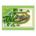 St. Patrick's Day Vintage Ireland Castle Postcard