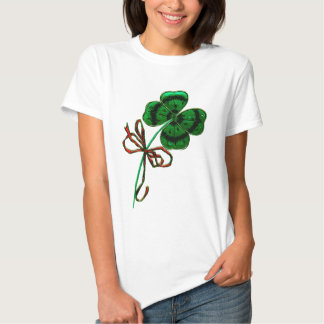 St. Patrick's Day Vintage Lucky 4 Leaf Clover Shirt