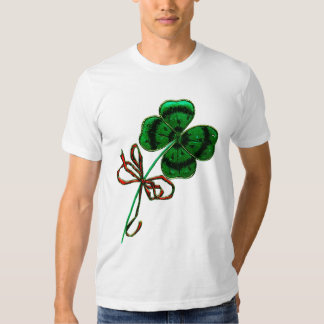 St. Patrick's Day Vintage Lucky 4 Leaf Clover Shirts