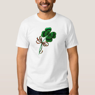 St. Patrick's Day Vintage Lucky 4 Leaf Clover T Shirt
