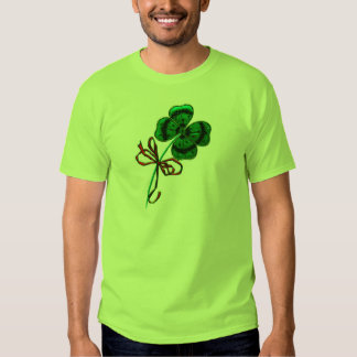 St. Patrick's Day Vintage Lucky 4 Leaf Clover T Shirts