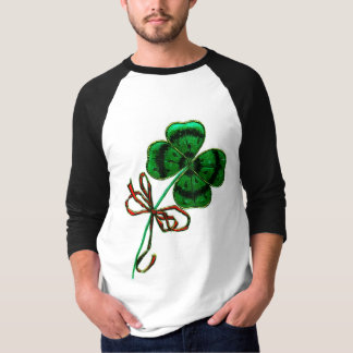 St. Patrick's Day Vintage Lucky 4 Leaf Clover T-shirts