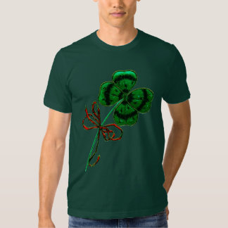 St. Patrick's Day Vintage Lucky 4 Leaf Clover Tees