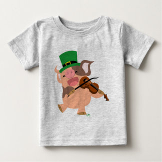 St Patrick's Day violinist pig Baby T-shirt