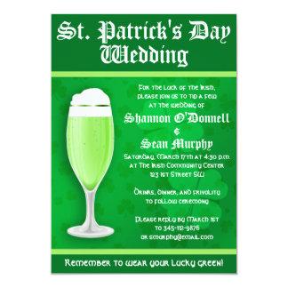 St. Patrick's Day Wedding Invitation