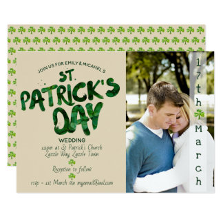 St Patrick's Day WEDDING Invitation - ADD PHOTO