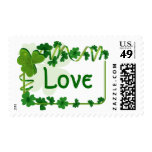 St. Patrick's Day Wedding Postage Stamps