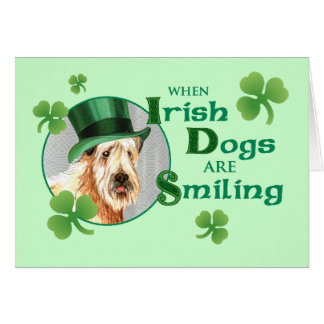 St. Patrick's Day Wheaten Terrier Greeting Card