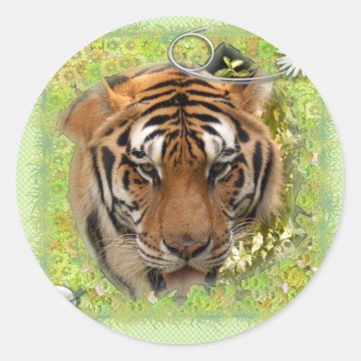 St. Patrick's Day-White Tiger Sticker