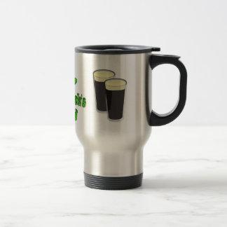 St Patricks Day with Hat Travel Mug