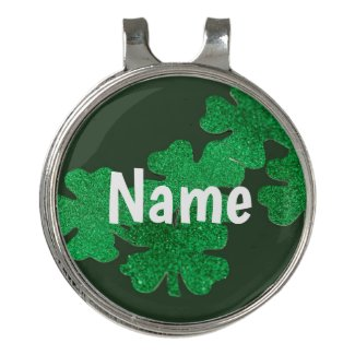 St. Patrick's Day with Shamrock clover Golf Hat Clip