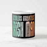 St Patrick's Day : World's Greatest Irish Man Extra Large Mugs