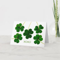 St. Patrick's Day, XOXO Lucky Shamrocks Photograph Card