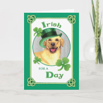 St. Patrick's Day Yellow Lab Card
