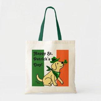 St. Patrick's Day Yellow Labrador bag