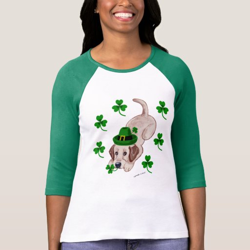 St. Patrick's Day Yellow Labrador Puppy T-Shirt