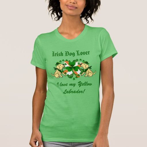 St. Patrick's Day Yellow Labrador T-Shirt
