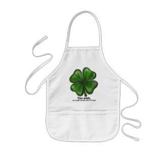 St. Patrick's Day, you wish Kids' Apron