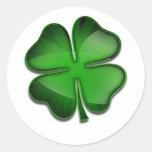 St. Patrick's Day Zing Classic Round Sticker