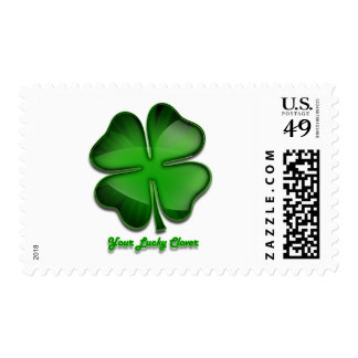 St. Patrick's Day Zing, lucky Postage Stamp