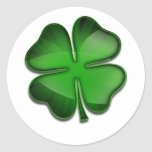 St. Patrick's Day Zing Round Stickers