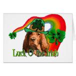 St. Patricks de Irish Setter Felicitación