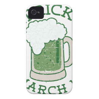 st patricks distressed green beer iPhone 4 Case-Mate case