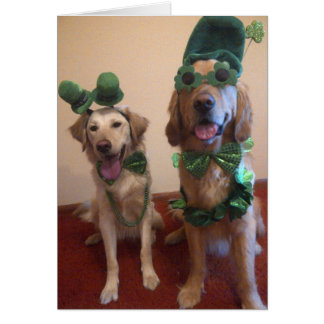 St. Patrick's Dog Card