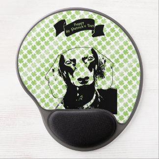 St Patricks Doxie Silhouette - Winston Gel Mouse Pad