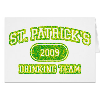 St Patricks Drinking Team Card