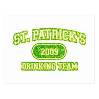 St Patricks Drinking Team Postcard