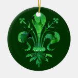 St. Patrick's Fleur de lis Ornaments