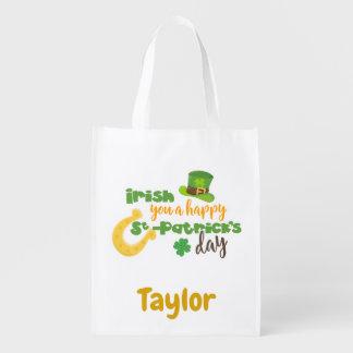St Patricks Fun Irish Reusable Grocery Bag
