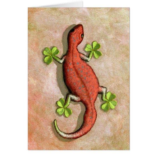 St. Patrick's Gecko Card