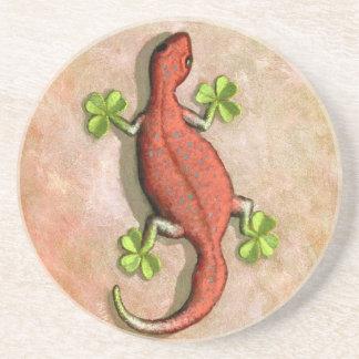 St. Patrick's Gecko coaster