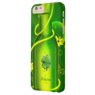 St. Patrick's Green Beer Bottle Barely There iPhone 6 Plus Case