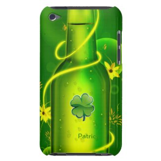 St. Patrick's Green Beer Bottle iPod Touch Case