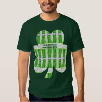 St. Patrick's Green Beer Shamrock Pattern T-Shirt