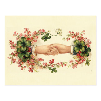 St. Patrick's Handshake Post Card