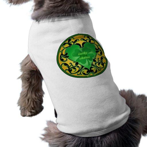 St. Patrick's Heart Lucky Charm Doggie Tee Shirt