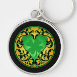 St. Patrick's Heart Lucky Charm Key Chains