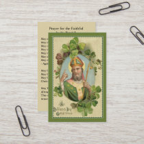 St. Patrick's  Holy Card with Irish Prayer