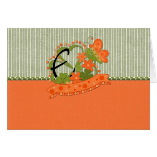 St. Patrick's Initial E Greeting Cards