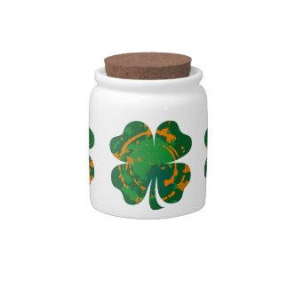 St Patrick's Ink Clover Candy Jars