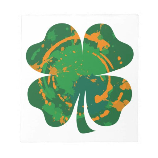 St Patrick's Ink Clover Note Pad