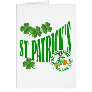 St patrick's Irish American Card